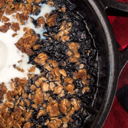 Smoked Blueberry Crumble
