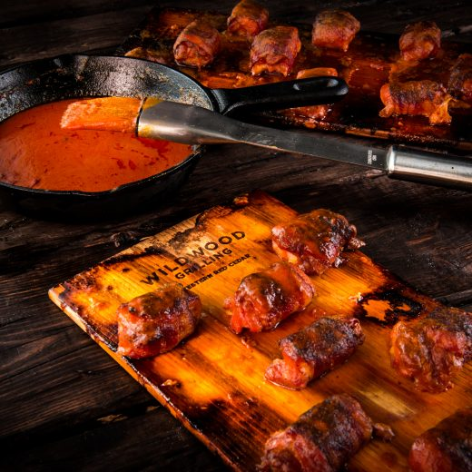Cedar-Planked Buffalo Chicken Bites