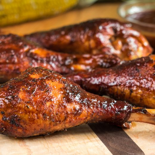 Smoked Turkey Legs with Habanero Mango Sauce