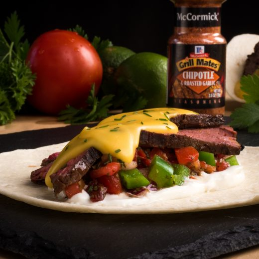 Caveman Steak Tacos with Chipotle Salsa