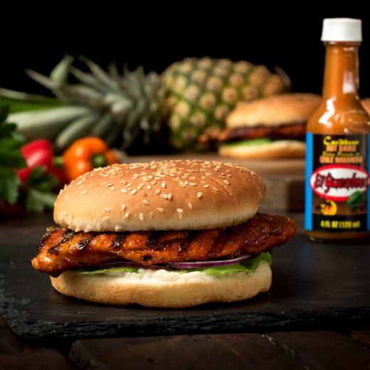Pineapple Habanero Chicken Burgers