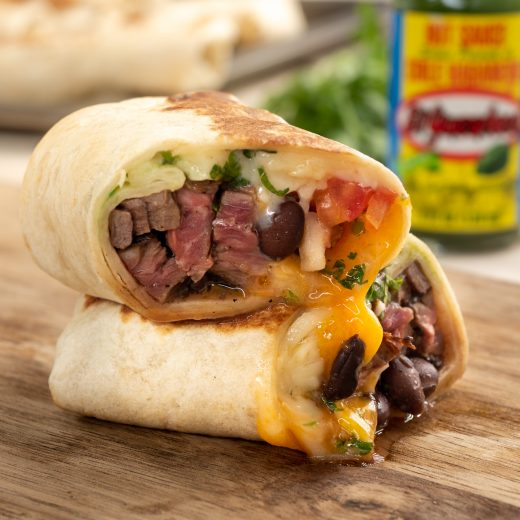 Habanero Skirt Steak Burritos
