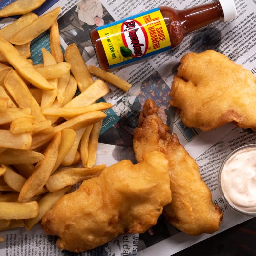 Fish 'n' Chips with Habanero Dipping Sauce